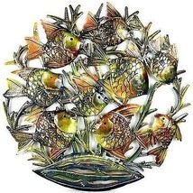 24-Inch Painted School of Fish Metal Wall Art -... - $89.09