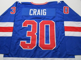 JIM CRAIG / GOLD MEDAL WINNER / AUTOGRAPHED TEAM USA CUSTOM HOCKEY JERSEY / COA image 1