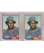 1981 Topps Traded #740 Bobby Bonds Cubs Lot of 2 - $1.90