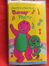 """Barney Invitations """" You're Invited to a Barney Party"""" - $9.85"""