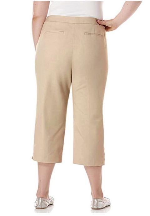 Rafaella Womens Size 6 Curvy Capri Dress Pants, Safari