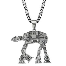 """Star Wars: 22"""" Chain AT-AT Walker Pendant Necklace 316 Stainless Steel - $38.00"""