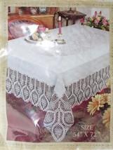"Better Home Crochet Lace Vinyl Tablecloth White 54"" Wide X 72"" Long - $17.99"