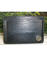 Gucci Textured Leather Card Case Holder Black G... - $34.00