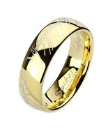 Eregion: Replica the One Ring Hobbit Lord Of, Comfort Fit Ring 316 Steel... - $12.99