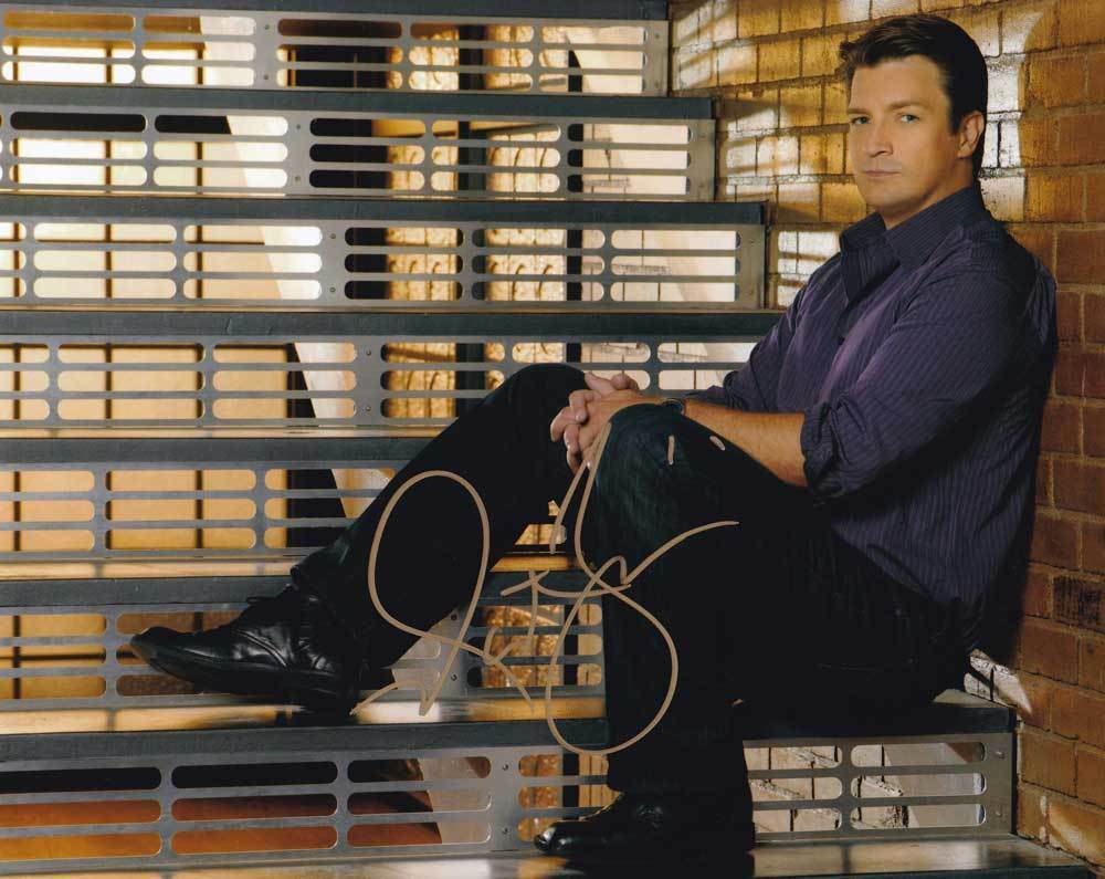 Primary image for Nathan Fillion In-Person AUTHENTIC Autographed Photo COA SHA #54905