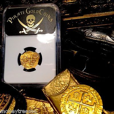 """COLOMBIA 1699 """"FULLY DATED!"""" 2 ESCUDOS """"1715 FLEET"""" NGC 63 GOLD COB DOUBLOON"""
