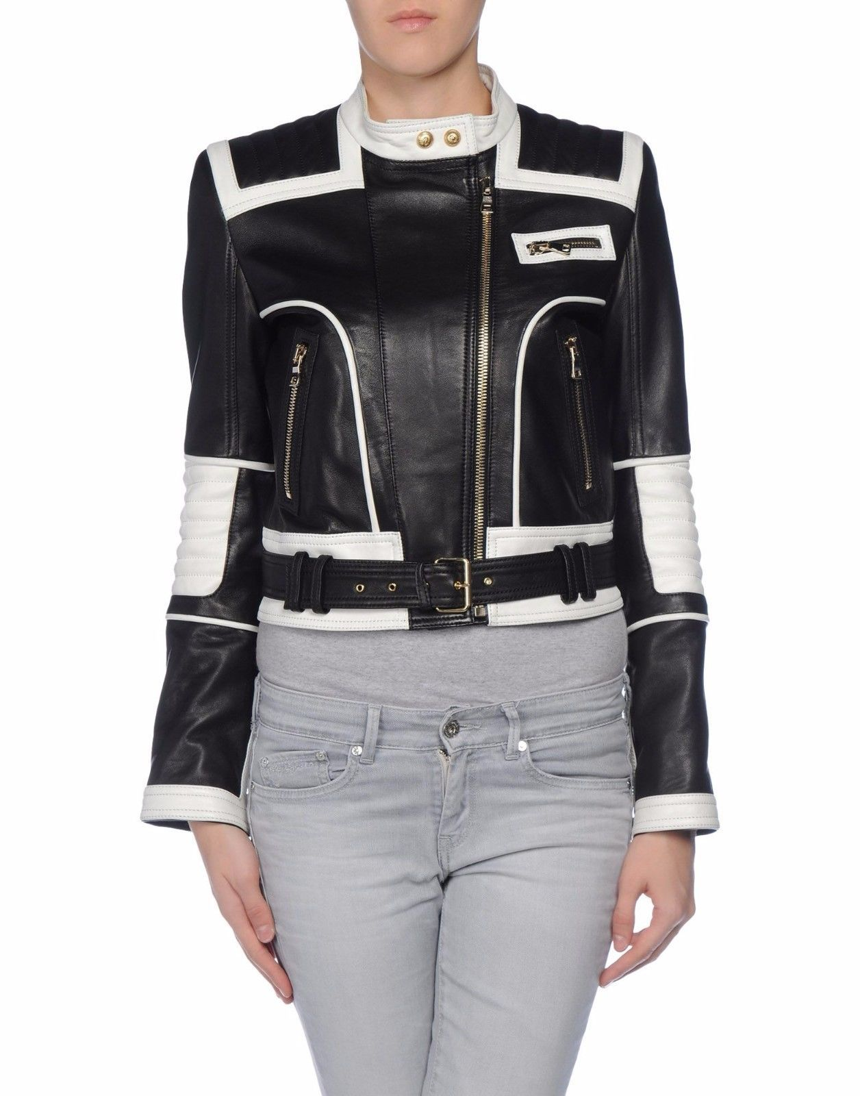 HotLeatherWorld Women Leather Biker Motorcycle Women Genuine Leather Jacket H3