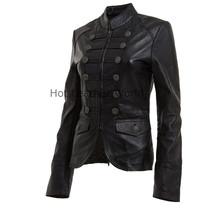 HotLeatherWorld Women Military  Leather Jacket Women Genuine Leather Jacket M3