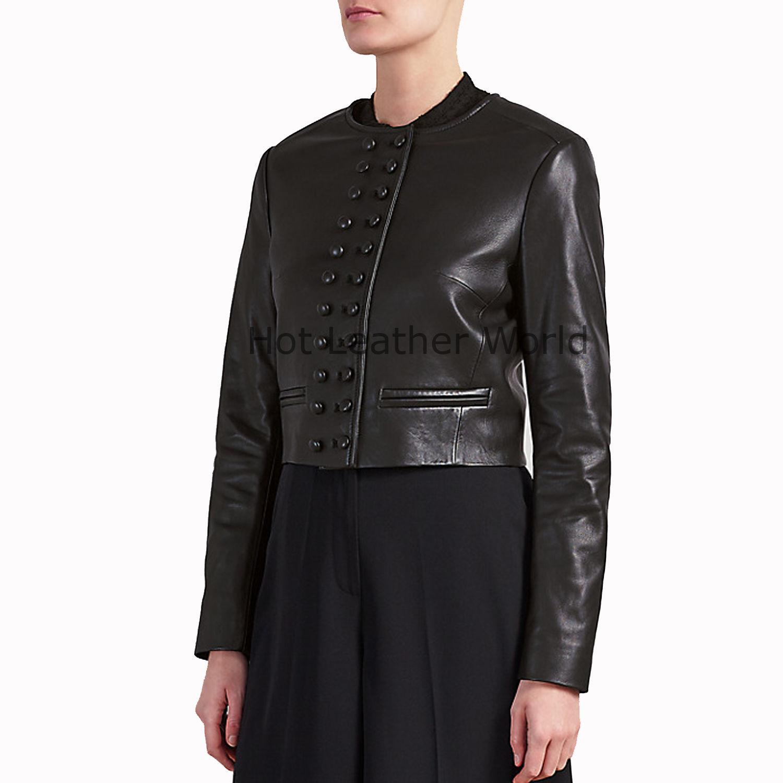 HotLeatherWorld Women Military  Leather Jacket Women Genuine Leather Jacket M4