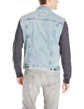Levi's Strauss Men's Premium Cotton Button Up Denim Jeans Trucker Vest image 3