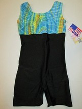 NWT Biketard IC 6-7 Child BalTogs Gymnastics Blue Foil SC Dance Leotard ... - $14.79