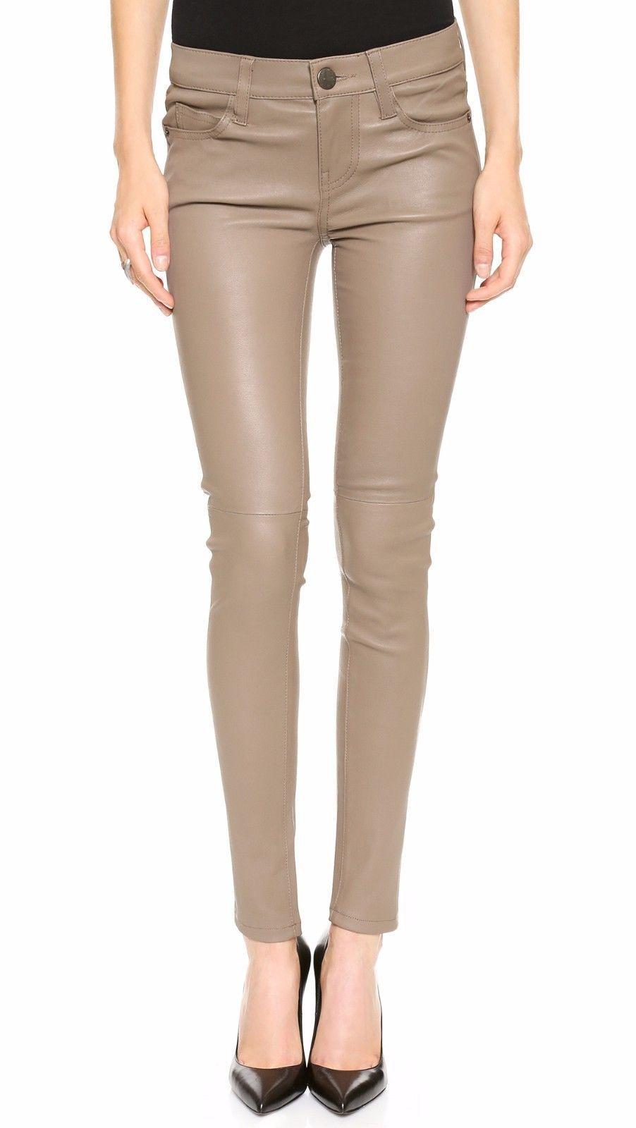 HotLeatherWorld Women Sexy Trendy Women Leather Pant Leather Capri Trouser P-1