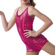 NEW Girls Dance Gymnastics Size 2 3 Biketard Leotard Unitard XS Pink Velvet - $15.79