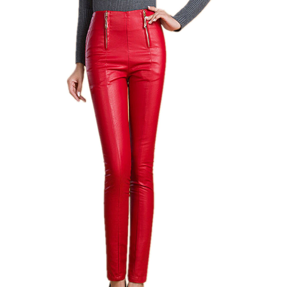 HotLeatherWorld Women Sexy Trendy Women Leather Pant Leather Capri Trouser P-2