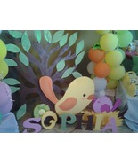 Birds 1st  Birthday Wood Standees  3 feet - Set... - $49.99