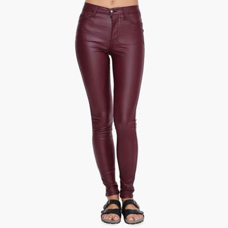 HotLeatherWorld Women Sexy Trendy Women Leather Pant Leather Capri Trouser P-4