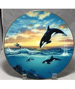 Orca Killer whale Jumping for Joy 1991 decorative collectors plate    - $9.85