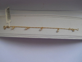 14K Gold Filled Dangling White Pearl Charm Kids... - $22.95