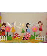 Tinker Bell  and  Friends Fairy Birthday party Standees 3 Feet Wood Phot... - $49.99