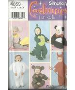 Simplicity 4859 Pattern Costume baby 1 2 3 4 mouse panda angel monkey al... - $9.77