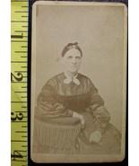 CDV Carte De Viste Photo Scary School Teacher! c.1859-80 - $3.20
