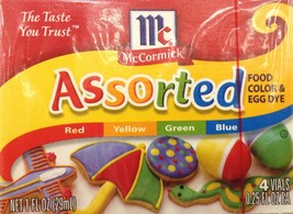 McCormick, Food Coloring & Egg Dye, Four Assorted, 1oz Box (Pack of 3) - $19.98