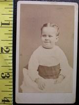 CDV Carte De Viste Photo Scary Young Girl! c.1859-80    - $3.20