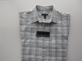 Van Heusen Spread Plaids Textures Short Sleeve Men casual Shirt S (14-14... - $20.89