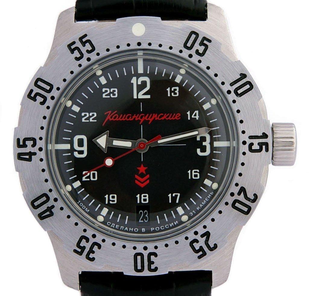 Vostok Komandirskie K-35 Russian Military Watch Black K35 2416 / 350503