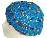 Turquoise Crochet Beanie Hat