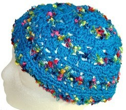 Turquoise Crochet Beanie Hat - €10,59 EUR