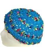 Turquoise Crochet Beanie Hat - $13.50