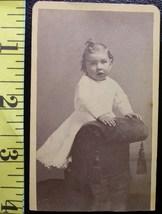 CDV Carte De Viste Photo Suprised Young Girl! c.1859-80 - $3.20