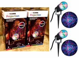 2 GEMMY LIGHTSHOW LED KALEIDOSCOPE MULTICOLOR PROJECTION LIGHT-DISCO PAR... - $24.72