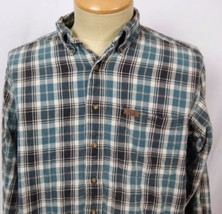 Woolrich Blue Gray Plaid Large LS Shirt - $24.74