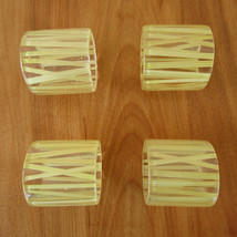 Vintage Lucite and Straw Bamboo Napkin Rings Cl... - $9.89