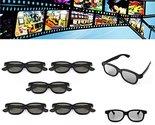 5 Pcs Passive Polarized 3D Glasses For Panasonic LG Sony Samsung 3D TVs Monit...