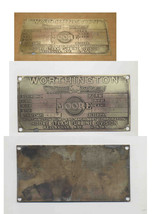 ANTIQUE WORTHINGTON MOORE STEAM TURBINE DIVISON BRASS PLATE.-WELLSVILLE NY - $39.99