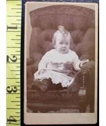 CDV Carte De Viste Photo Cute Baby Boy in Dress! c.1859-80 - $3.20
