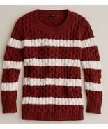 J.Crew Women's Brown Chainlink Cable Sweater in Stripe, size L, NWT - $85.00