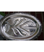 Vintage Silverplate Footed Scroll Design Well & Tree Serving Platter - $25.00
