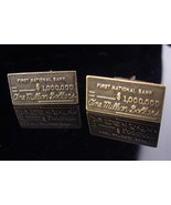 1,000,000 cufflinks  / ONE MILLION DOLLARS / Vintage First National Bank... - $145.00