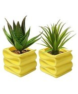 Office Ceramic Plant Pot Set Small Flower Plant... - $23.26