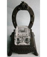 Victorian Cast Iron Figural Horseshoe Inkwell from the late 1800's, made... - $42.75