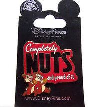 Disney Chip Dale Trading Pin Completely Nuts Proud of it Theme Parks New... - $16.95