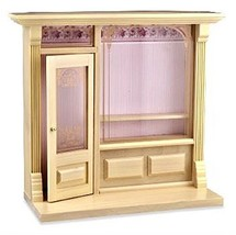Reutter Porzellan Dollhouse Miniature Cafe Shop Display, Empty, Natural Finish # - $83.12