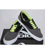 Men's Adio Canvas Cruisers Black Charcoal Lime (NIB) Size 9M  - $19.99