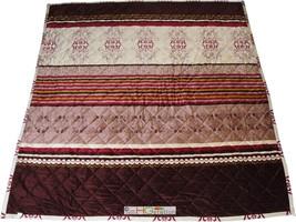 3-Pc Ultra Soft Quilted Fleece Blanket Pillow Sham Set Damask Floral Mot... - $36.04