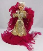 Vintage 1950s Howard Holt Japan Porcelain Red Feather Angel Figurine Chr... - $39.59